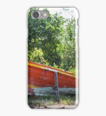 Jungle and boat wreck iPhone Case/Skin