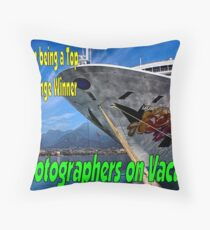 PA Photographers on Vacation Banner Throw Pillow
