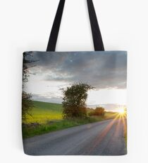 Sunset, Field Asserts, Oxfordshire, UK Tote Bag