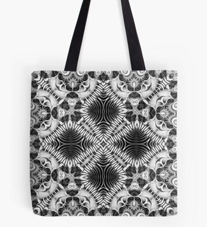 Tribal Fractals | Black White Geometric Tote Bag