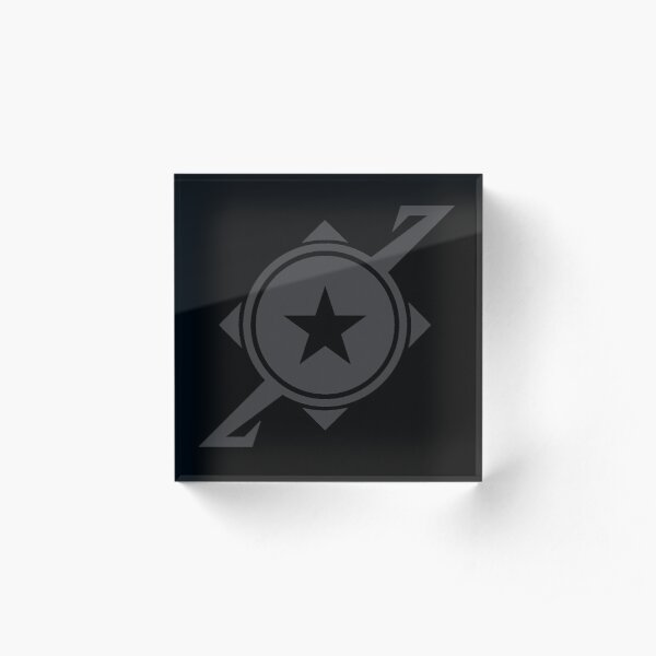 Galaxina Planet Logo - Dark Grey Acrylic Block