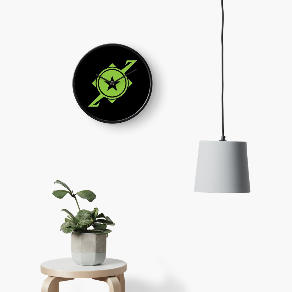 Galaxina Planet Logo - Lime Green Clock