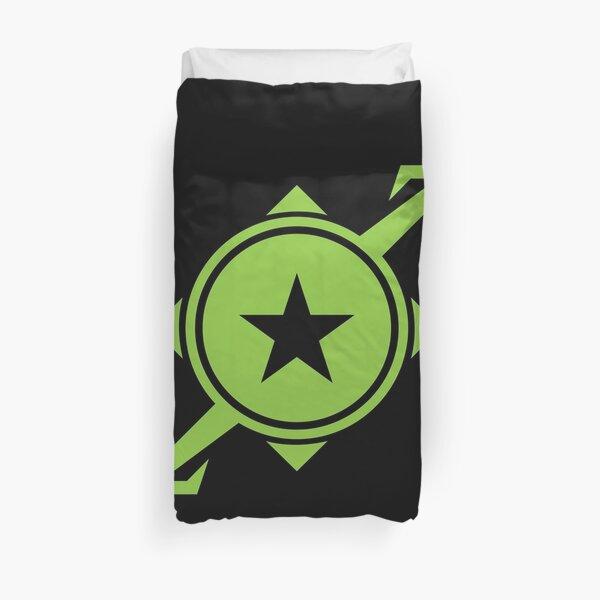Galaxina Planet Logo - Lime Green Duvet Cover
