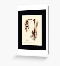 Huntington Gardens Plein Air Bamboo Drawing #1 Greeting Card