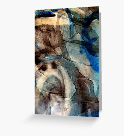 blue veins of time Greeting Card