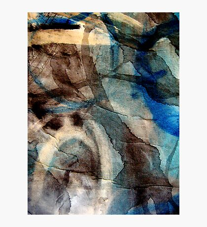 blue veins of time Photographic Print