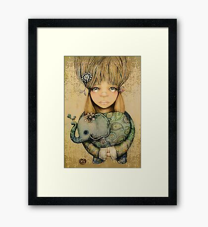 elephant child Framed Print