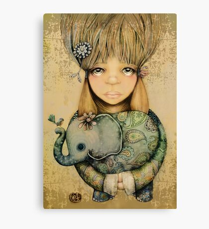 elephant child Canvas Print