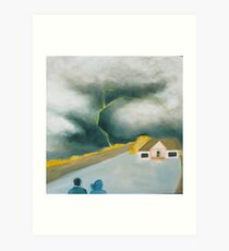 Big skies: watching the storm Art Print
