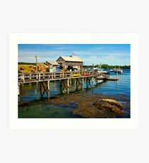 Wharf, Friendship, Maine Art Print