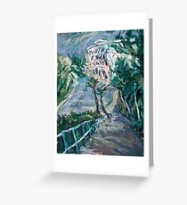 Composition in Blue and Green  Greeting Card