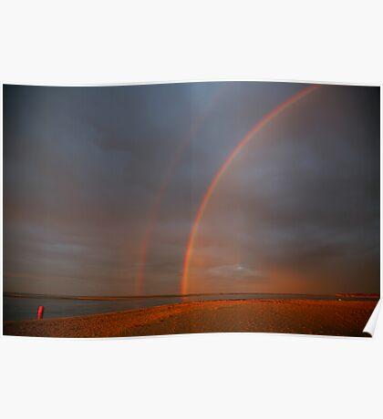 rainbow sunrise. inverloch, victoria Poster