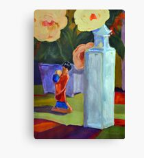 China Doll and Vase Canvas Print