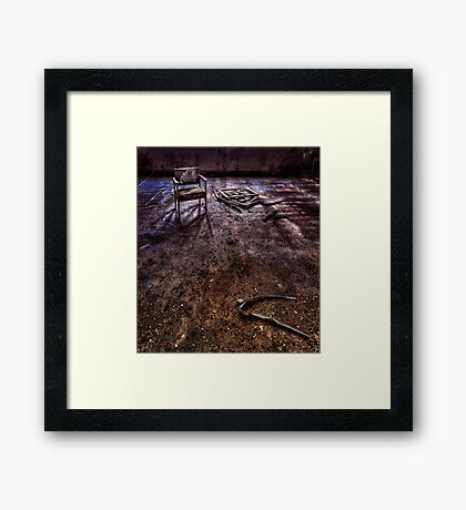 Lost in Your Own Mistakes Framed Print