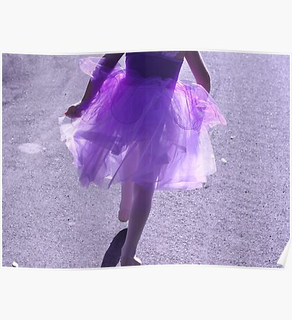 Skipping Purple Poster