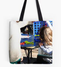 Playing with Pops @ Garden Games Tote Bag