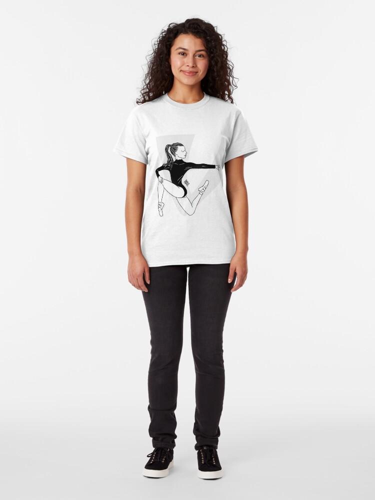 Vista alternativa de Camiseta clásica Bailarina de Ballet
