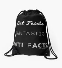 Fantastic Cat Faints Drawstring Bag