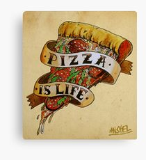 Pizza is Life Canvas Print