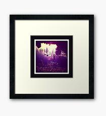 dusk lake Framed Print