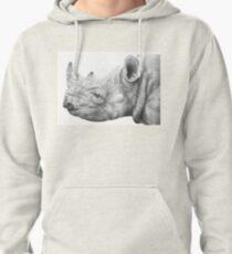 Black Rhino Pullover Hoodie