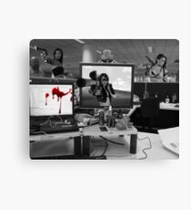 Office Cubicle Canvas Print