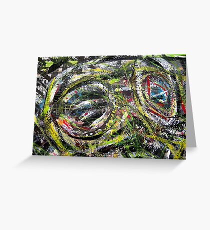 your eyes aint seen nothing yet... out of the jungle for real Greeting Card