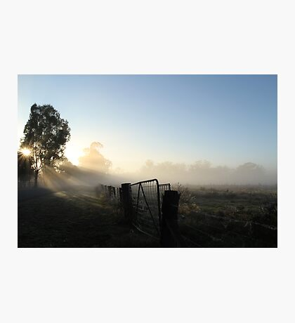 Burning off the Mist - Echuca Photographic Print