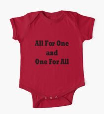 All for one and one for all One Piece - Short Sleeve