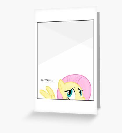 Shyness Greeting Card