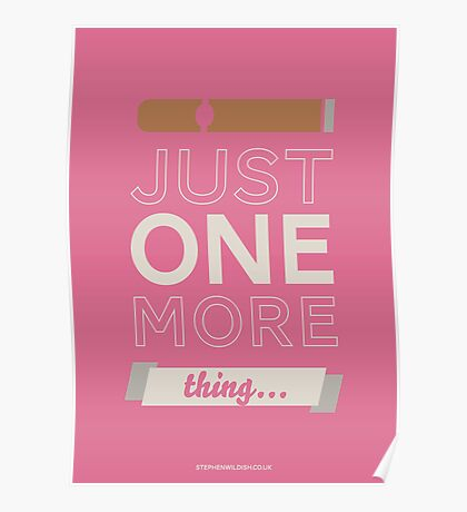 Just one more thing... Poster