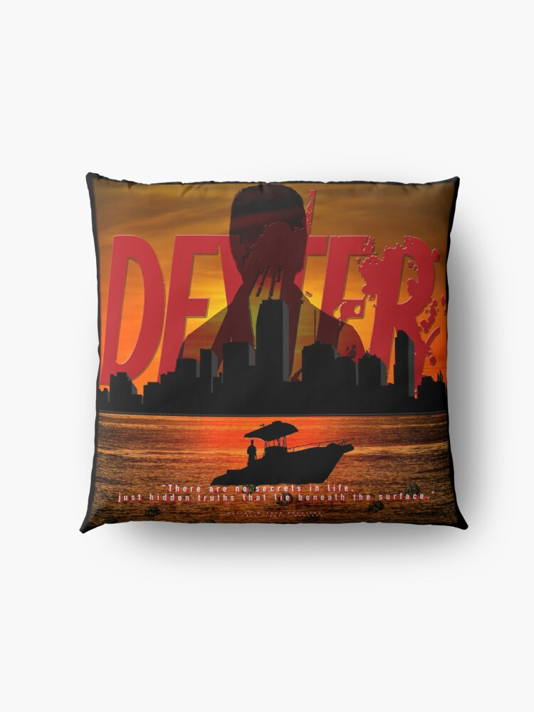 Alternate view of DEXTER - Boat On The Water. Floor Pillow