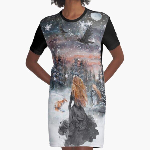 Winter Märchen T-Shirt Kleid