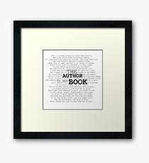 The Author to her Book Framed Print