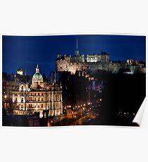 Edinburgh By Night Poster