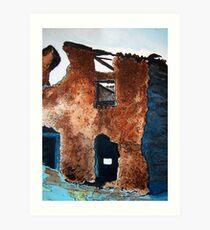 Adobe Ruins Art Print