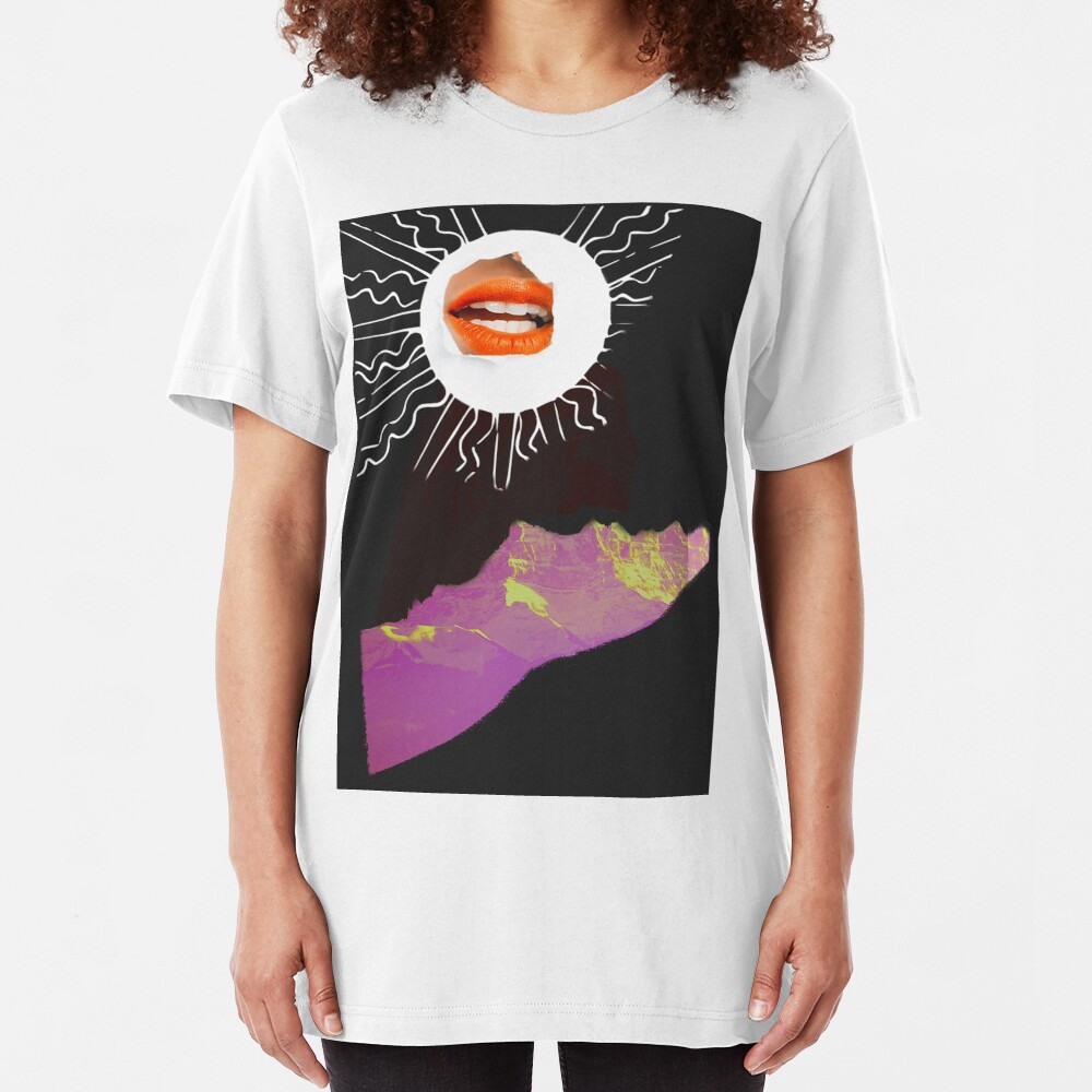 She Did Not Scale Mountains Just to Reach the Top and Burn Her Hands On the Sun Slim Fit T-Shirt