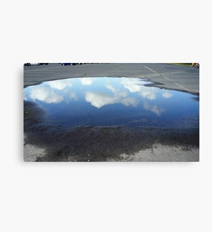 Reflecting Puddle Canvas Print