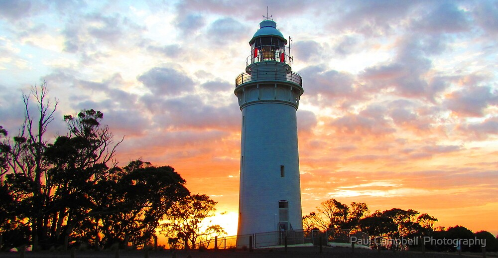 Table Cape Lighthouse Sunrise by Paul Campbell  Photography