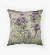 In a Thistle Field Throw Pillow