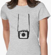 Vintage Camera Kodak Brownie Chiquita 127 Film Women's Fitted T-Shirt