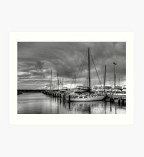 Fremantle Boots Harbor Art Print