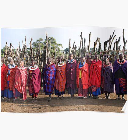 Maasai (Masai) Women of Kenya & Tanzania  Poster