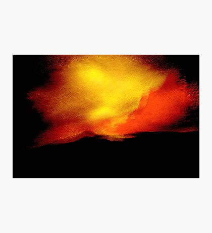 sudden flare.... red yellow sky of indecision Photographic Print