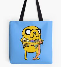 Jake with his kids - Adventure Time Tote Bag