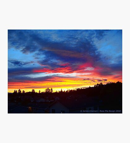 Rooftop Sunset Photographic Print