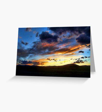 Sunset over Elmo Greeting Card