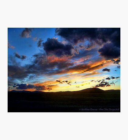 Sunset over Elmo Photographic Print