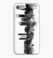 Riyadh skyline in black watercolour  iPhone Case/Skin