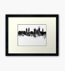 Riyadh skyline in black watercolour  Framed Print